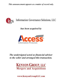 Access Announces Acquisition of Information Governance Solutions (IGS) and Virgo™